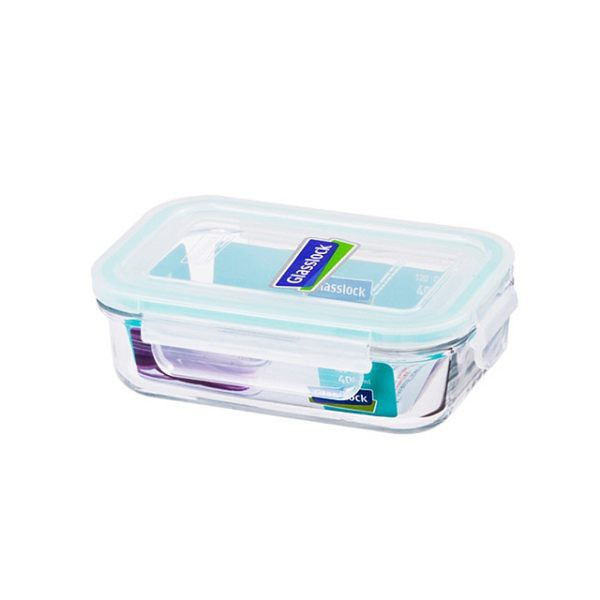 Glass Lock強化玻璃保鮮盒400ml長方型密封盒RP519便當盒副食品保存盒-大廚師百貨