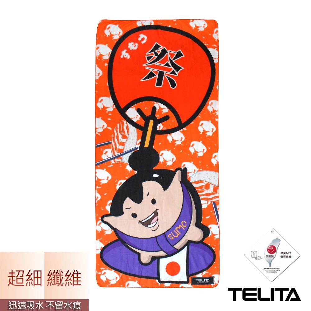 【TELITA】超細纖維日系和風海灘巾-相撲力士 TA6818