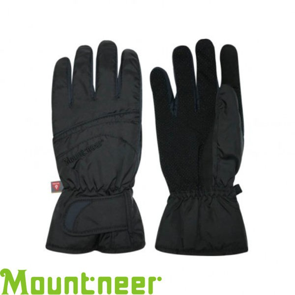 【Mountneer 山林 PRIMALOFT防水觸控手套《黑/灰》】12G07/防風/可觸控/騎車手套/悠遊山水