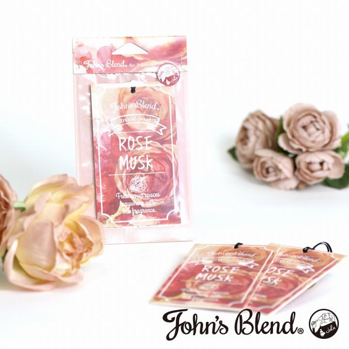 日本 John′s Blend Rose Musk 玫瑰麝香 香氛 吊卡 / 香片 (1入) 化學原宿