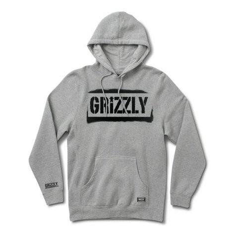 Grizzly Stencil Stamp 帽T (灰)《Jimi Skate Shop》