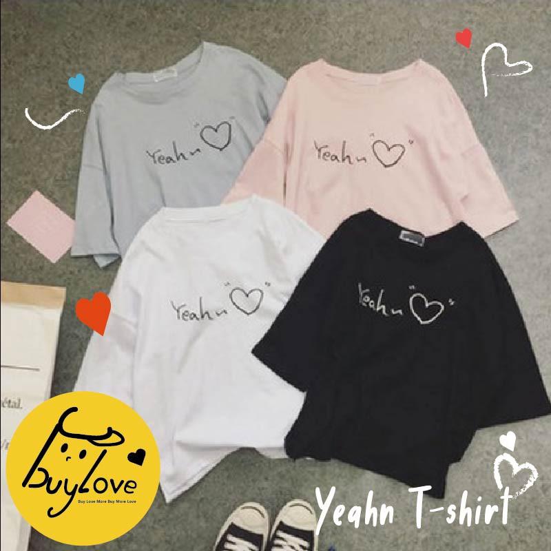 【買到戀愛】少女手寫字愛心素面百搭短T恤【F341】