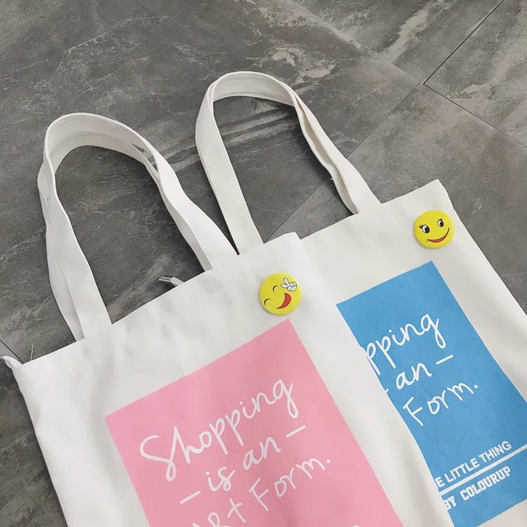 [Y.D帆布]現貨Shopping12安棉帆布 包 單肩包 (有拉鏈)帆布袋