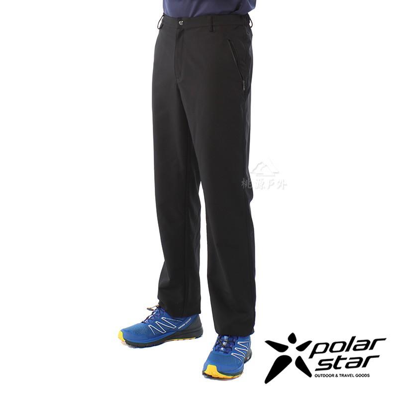 【PolarStar】男 輕便保暖長褲『黑』P20405