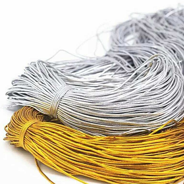DIY金線銀線 金絲線 吊牌禮品包裝 綁繩 無彈性 (100米)【JC3962】《Jami》