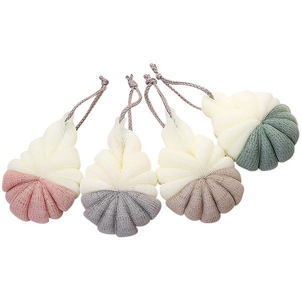 北歐風雙色沐浴球(1入) 顏色隨機出貨【小三美日】D011658