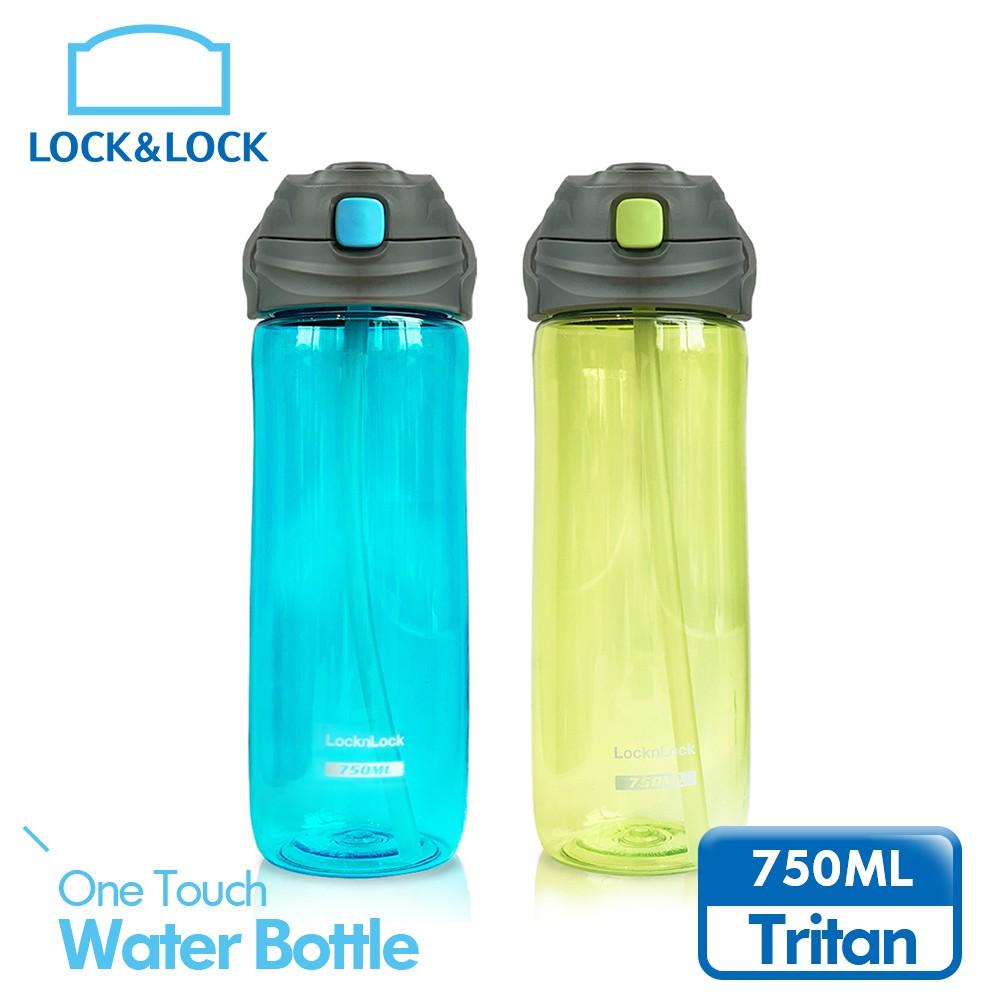 【樂扣樂扣】TRITAN彈跳吸管水壺/750ML/兩色任選