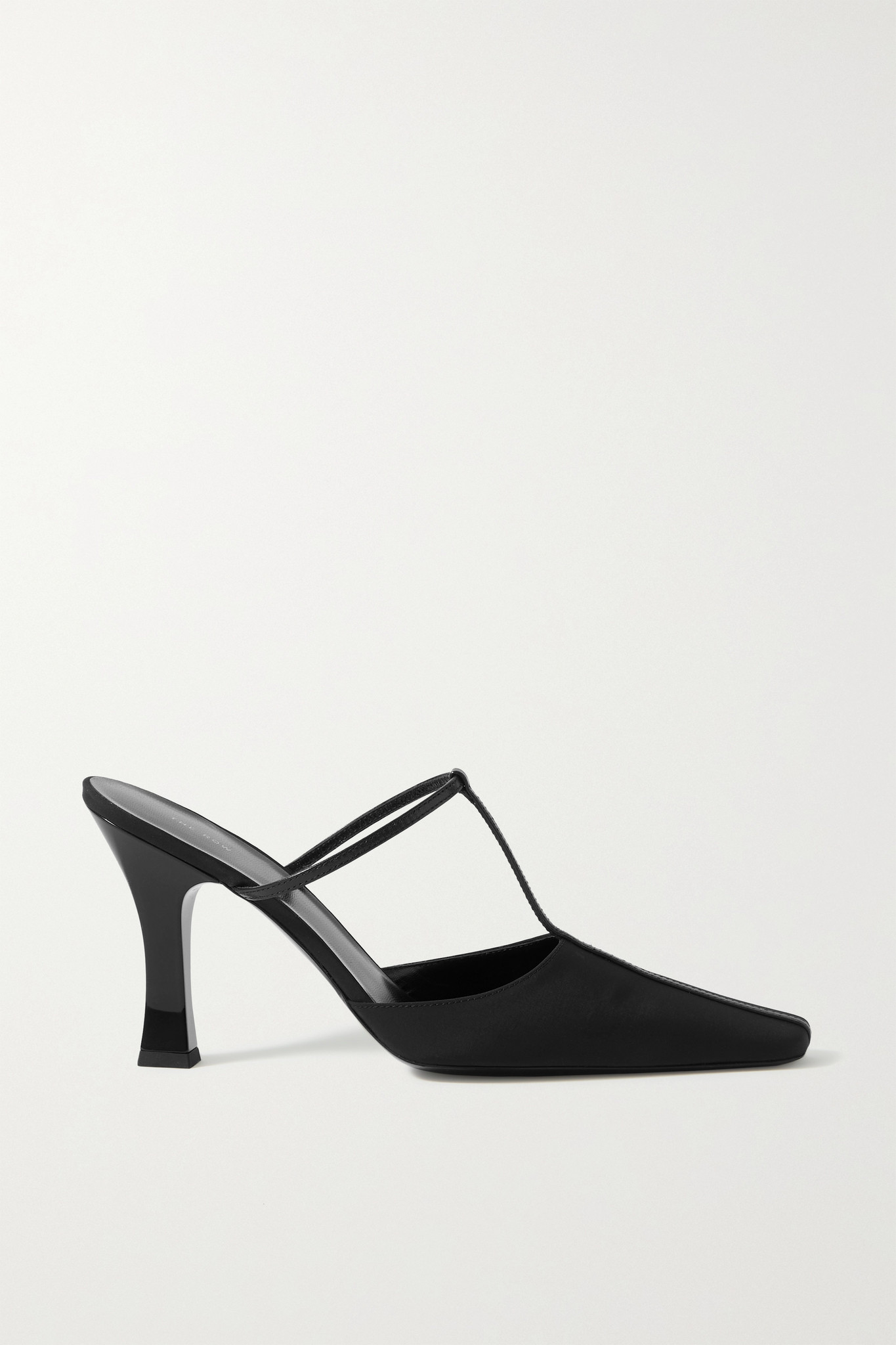 THE ROW - Office Leather-trimmed Shell Mules - Black - IT40