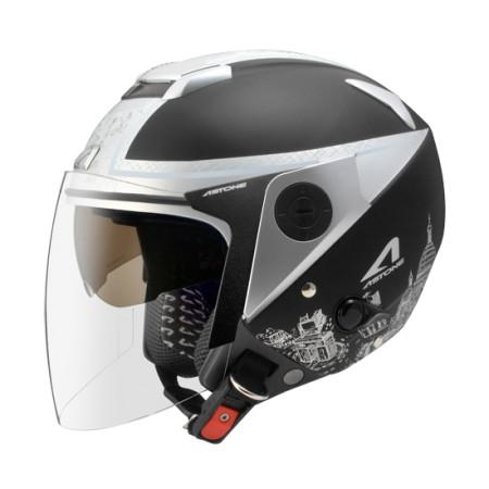 ASTONE RS-T56 消光黑/銀 全可拆洗 半罩 安全帽 通風佳 輕量化 雙鏡片《淘帽屋》