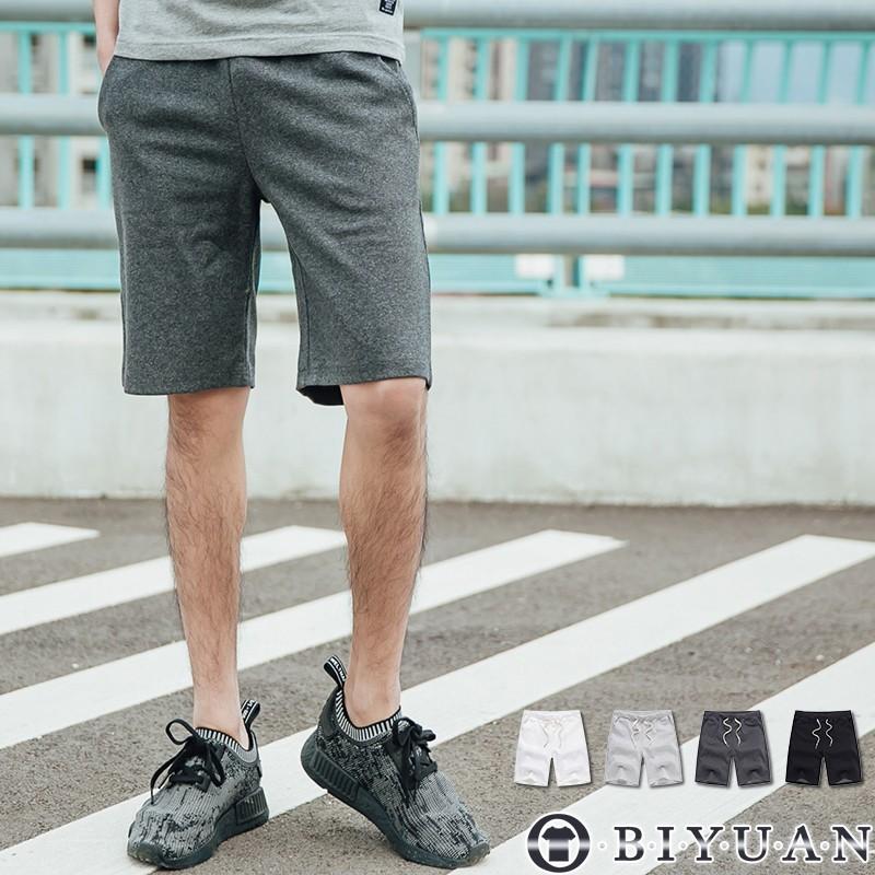 【OBIYUAN】短褲 棉褲  高規格 厚磅 素面抽繩 休閒褲 運動褲 共4色【T003】