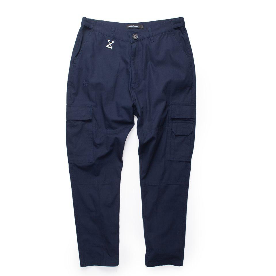 UNDER PEACE - 19SS ATTEMPT / CARGO PANTS 六口袋 工作長褲 (深藍) 化學原宿