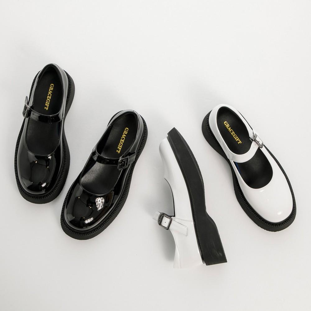 Grace gift-圓頭厚底瑪莉珍鞋