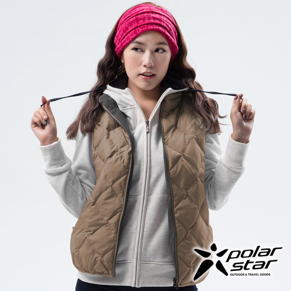 PolarStar 女 雙面穿羽絨背心『卡其』P18256
