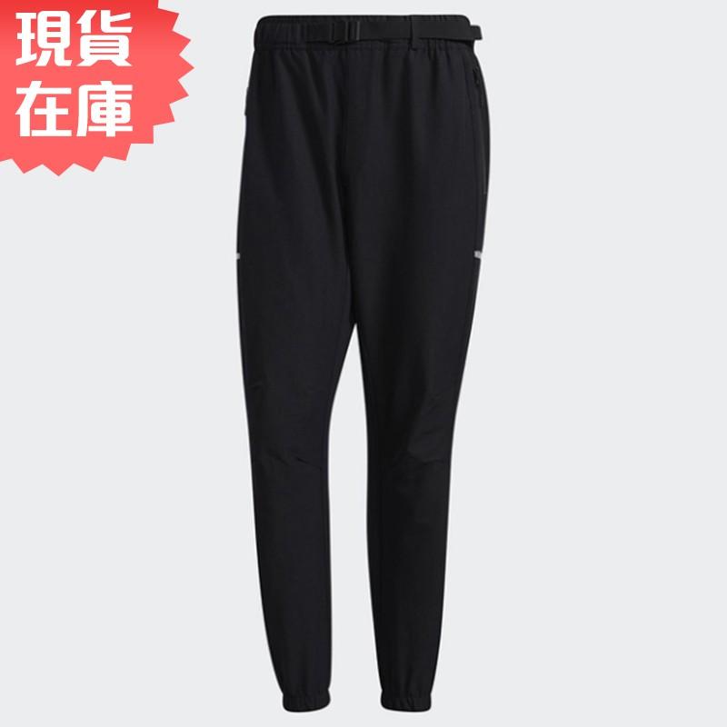 Adidas TECH ID 男裝 長褲 休閒 鬆緊 腰帶 收口褲口 拉鍊口袋 黑【運動世界】GP0958