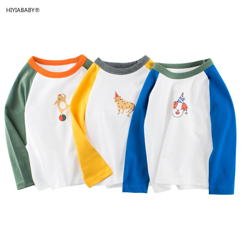 秋季新款兒童長袖T恤 品牌童裝 秋季新款兒童打底衫 男童裝長袖T恤純棉