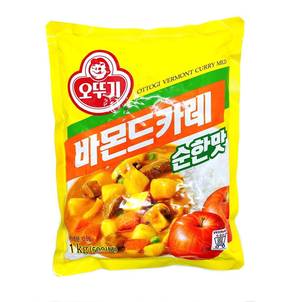 韓國不倒翁咖哩粉 中辣 蜂蜜蘋果咖哩 1KG 蘋果咖哩原味