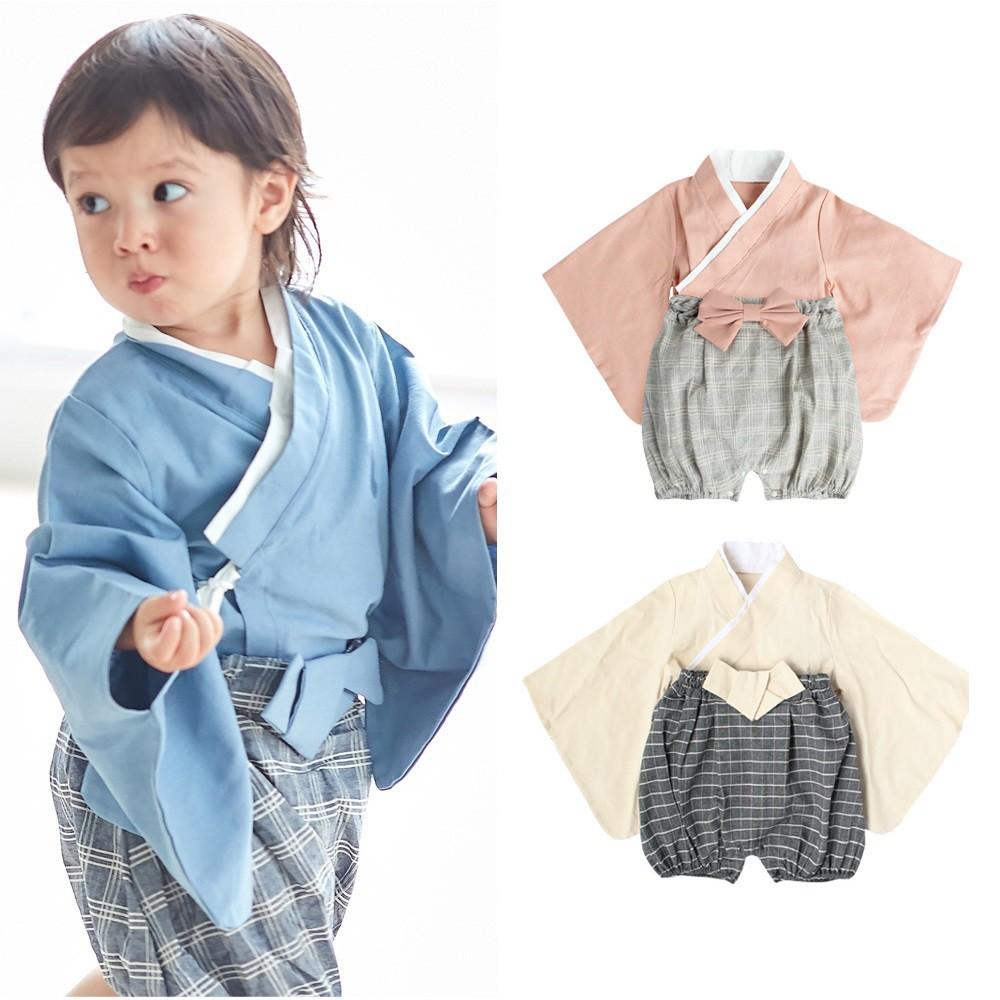 Augelute Baby童衣 日式造型服套裝 二件式日本和服 cosplay套裝 男寶寶女寶寶套裝 12002