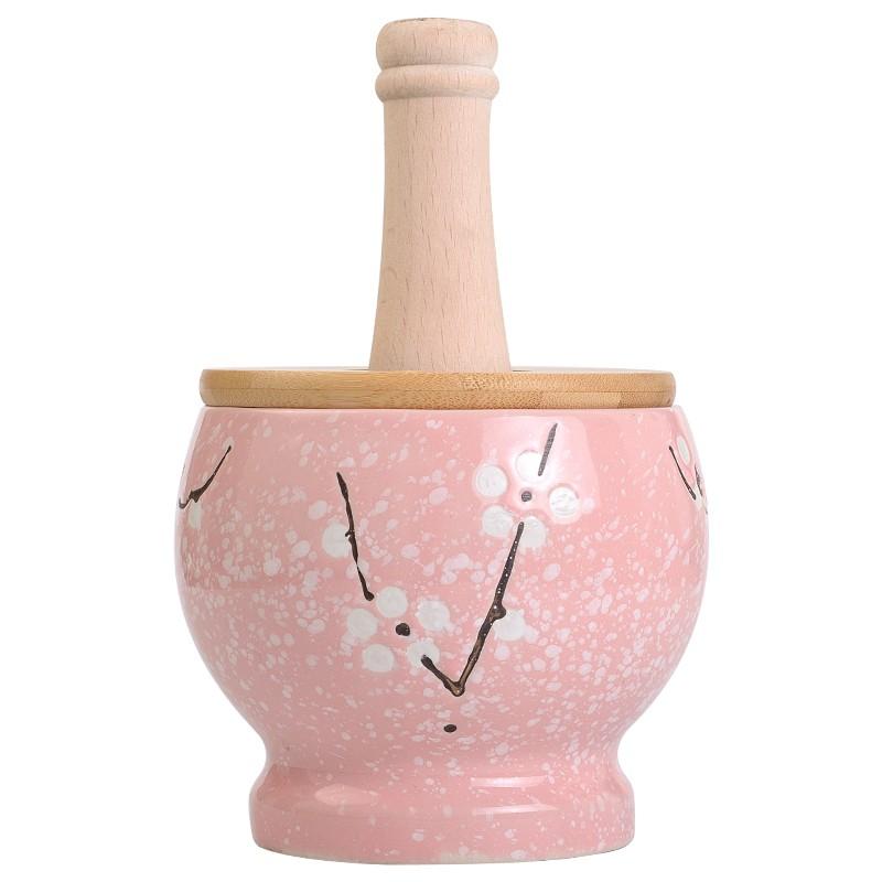 蒜泥神器 廚房工具壓蒜泥家用搗蒜器老式陶瓷蒜臼子研磨搗碎器搗藥罐蒜缸盅