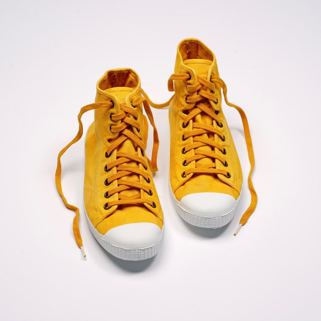 CIENTA 西班牙帆布鞋 61777 64 芥末黃 洗舊布料 大人 高筒