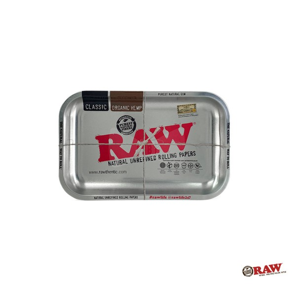 GOODFORIT / 西班牙RAW Metallic Silver Rolling Tray限量拋光版扁長型鐵盛盤