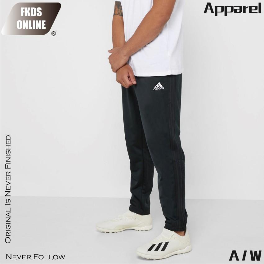 Adidas 愛迪達 CON18 PES PNT 經典三線 黑色素面 運動長褲 休閒長褲 運動褲 長褲 CF4385