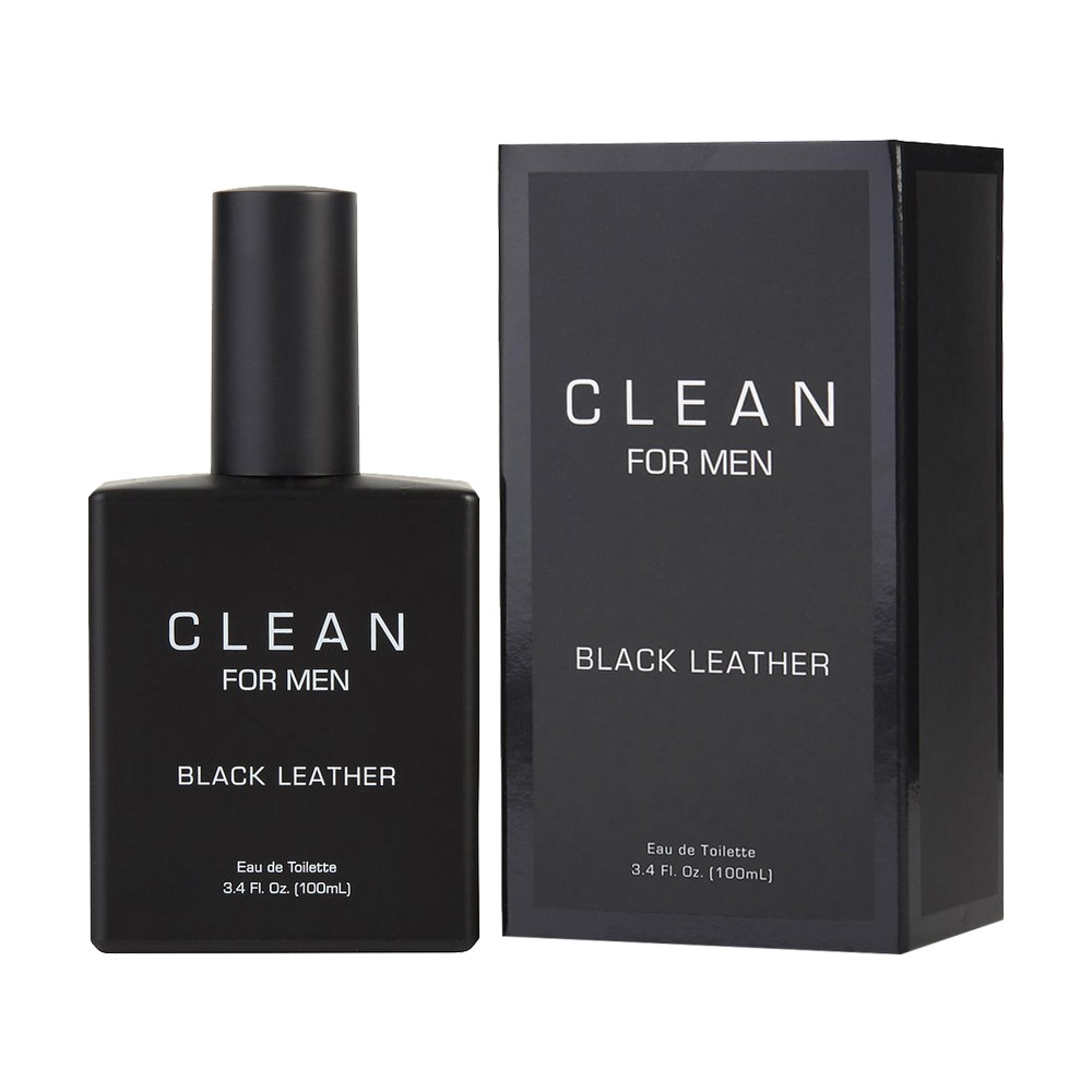 CLEAN Black Leather 黑色皮革男性淡香水 100ml 〔5295香水美妝〕