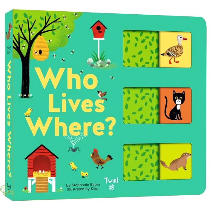 Who Lives Where?:A Slide-and-Learn Book (硬頁推拉書)【禮筑外文書店】[79折]