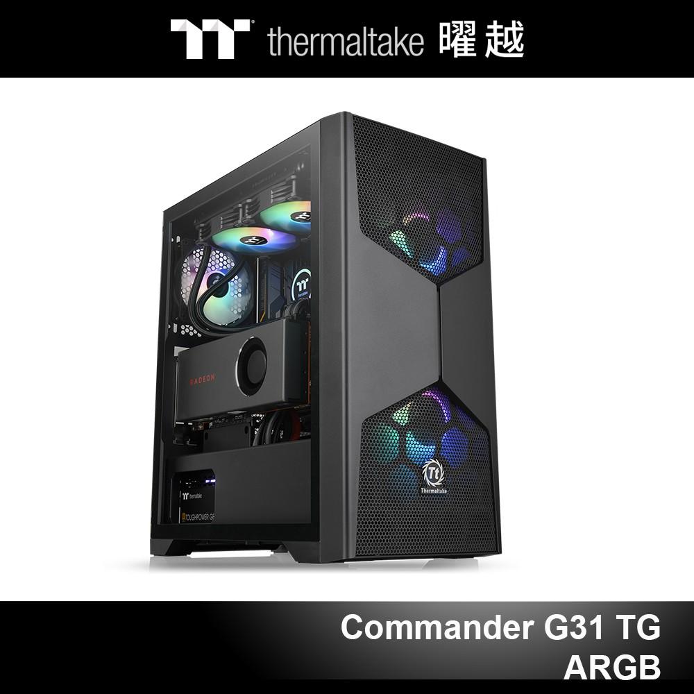 曜越 軍令官 Commander G31 TG ARGB 強化玻璃中直立式機殼 CA-1P1-00M1WN-00