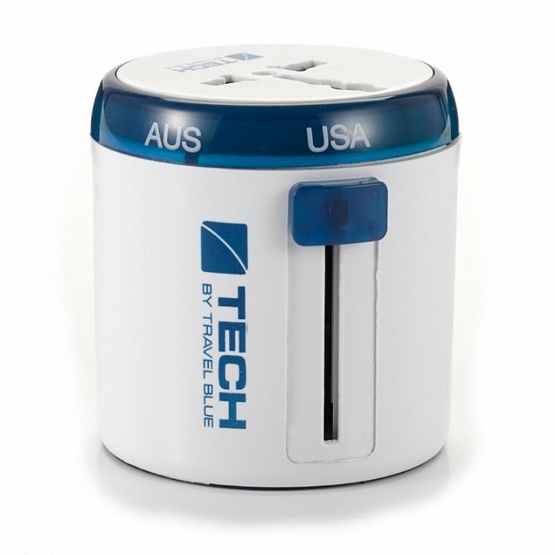 Travel Blue 英國藍旅旅行配件 多國旅行萬用轉接插頭 藍色(TB262-BLU)