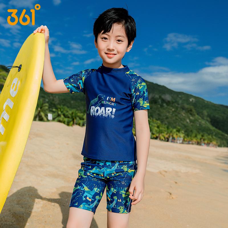 361度兒童游泳衣分體男童2021新款男青少年中大童防曬泡溫泉泳裝
