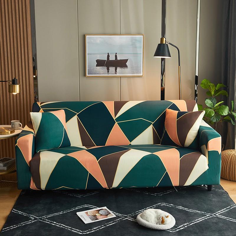 Alls WONDERLAND 歐式古典印花萬能通用沙發套 單人雙人三人四人沙發罩 彈力全包沙發套罩 送壓條抱枕套