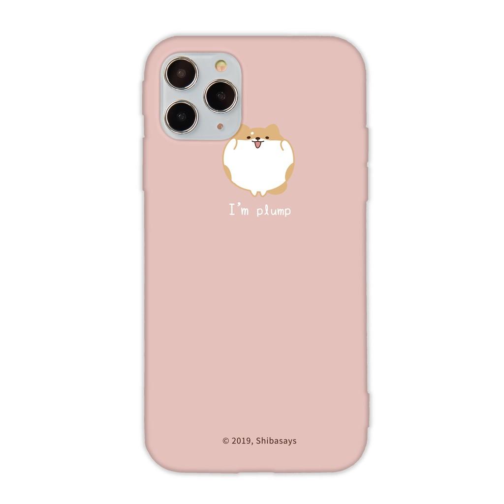 【TOYSELECT】簡約大頭柴語錄iPhone手機殼:胖胖圓滾滾(共4色)