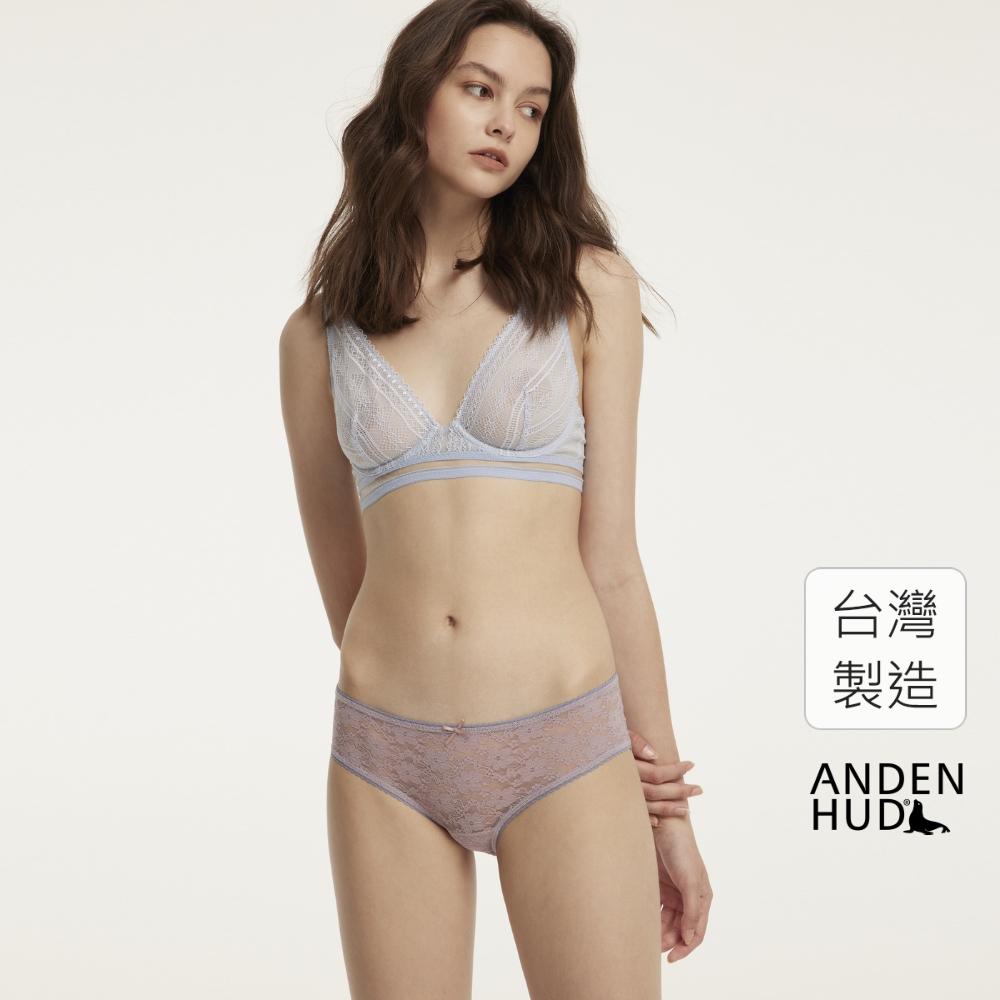 【Anden Hud】絢撫子.花邊全蕾絲中腰三角內褲(彌生粉) 台灣製