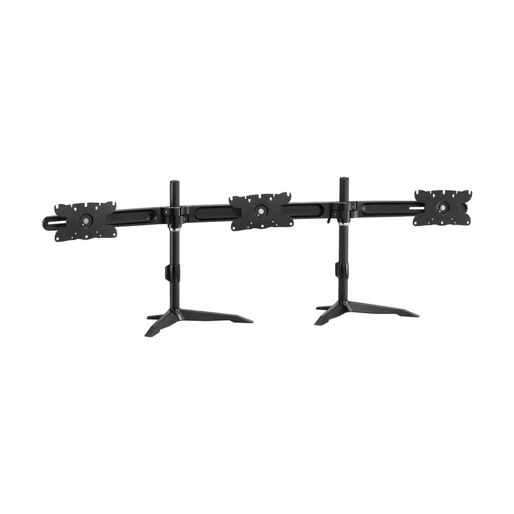 【HE】桌上型多動向三螢幕架(H633TSE)-適用24~30吋LED