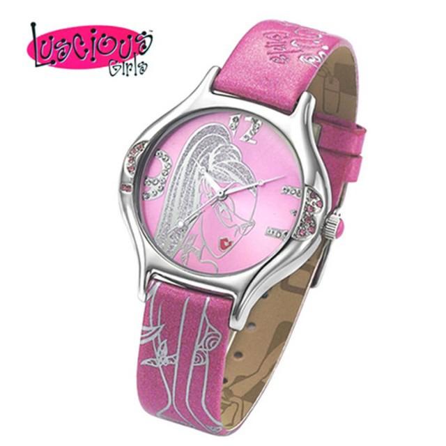 【Luscious Girls浪漫少女】閃耀瞬間華麗浪漫風鑽錶(LG005C粉)