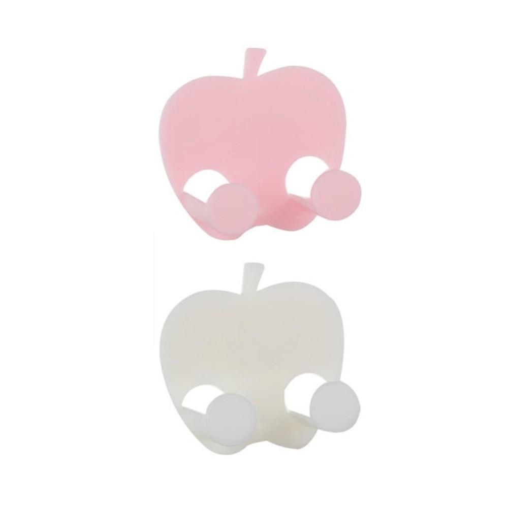 創意蘋果型插頭掛鉤 強力免釘黏鉤 廚房牆壁電源插座支架掛勾 顏色隨機出貨