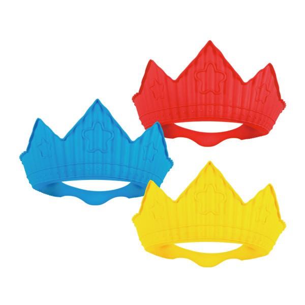 韓國 sillymann 鉑金矽膠皇冠幼兒洗髮帽 (三款可選) (黃色/藍色/紅色)【麗兒采家】