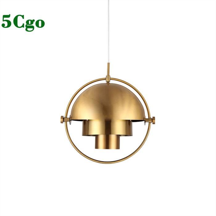 5Cgo【燈藝師】創意個性北歐臥室床頭吊燈輕奢金色造型後現代餐廳吧台單頭吊燈設計師款輕奢t569396459902