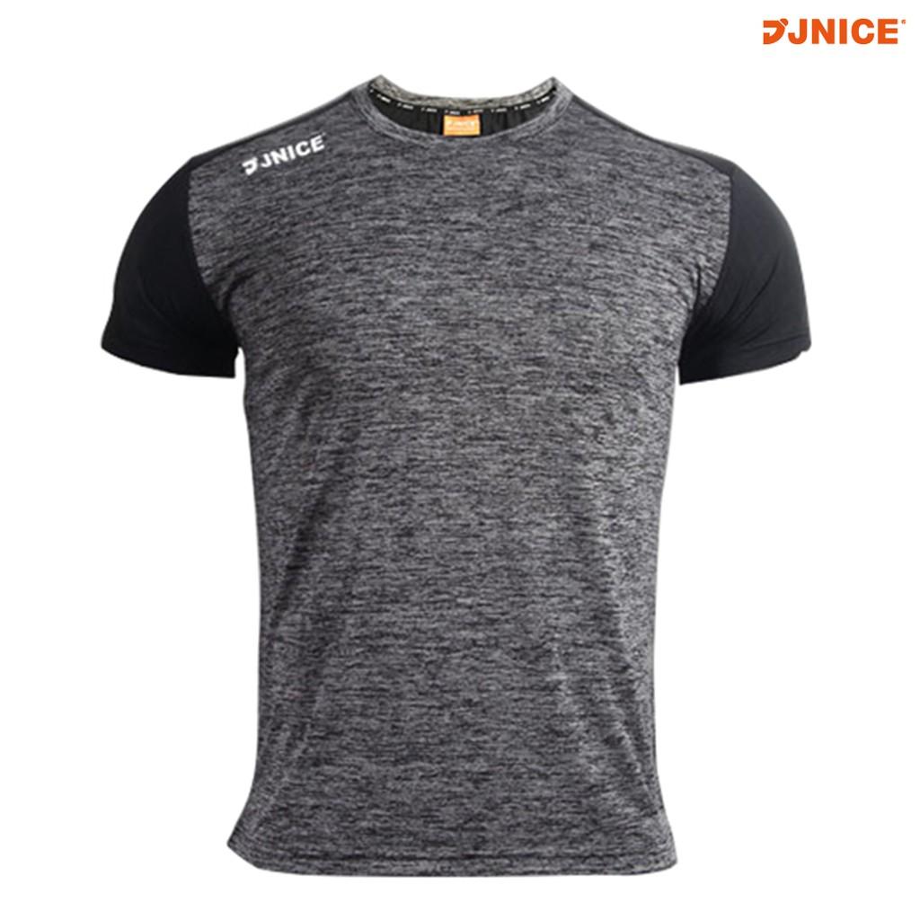 【JNICE久奈司】 彈力訓練短TEE-碳灰 工作服 運動服 吸濕排汗 健身衣 訓練衣 素色 T恤