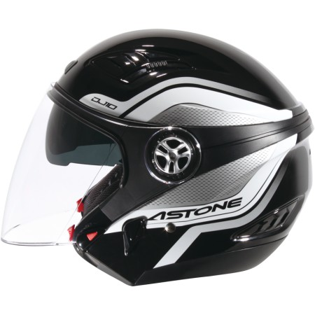 ASTONE DJ10C-OO07 黑白 內墨鏡 透氣 吸濕排汗 全可拆洗 3/4罩 安全帽《淘帽屋》