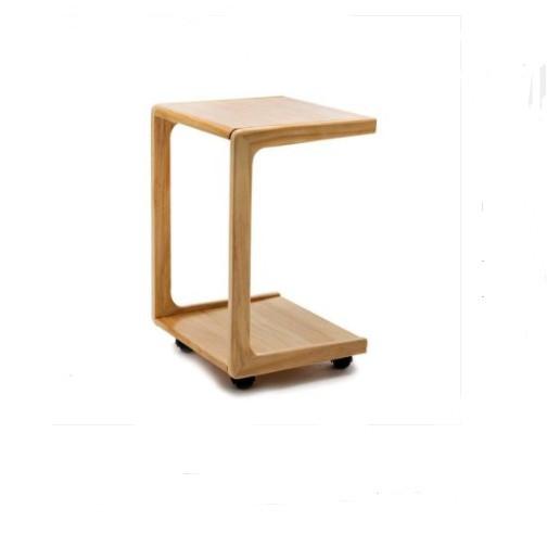 可移動邊幾小茶幾帶輪實木沙發邊櫃茶桌臥室床邊小幾方桌子