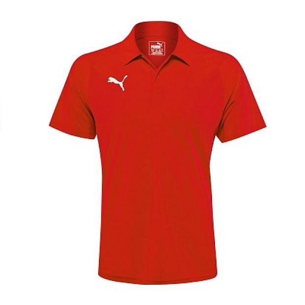 PUMA 基本款 排汗運動短POLO衫 紅 655608-01 大尺碼