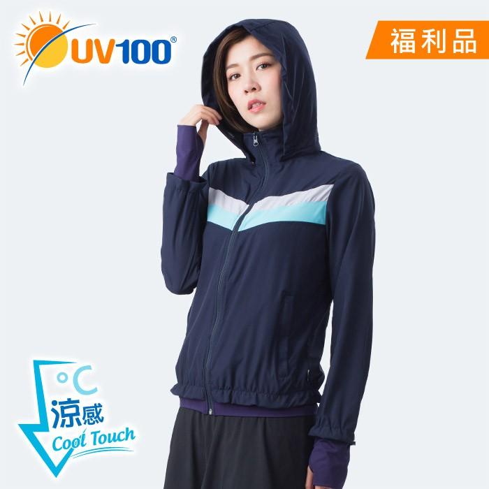 【UV100】抗UV-涼感輕薄造型外套-連帽可拆 -(AB81075)-福利館限定