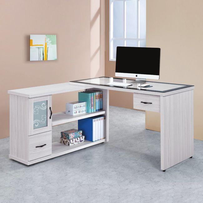 【RA761-3】密卡登4.4尺L型書桌