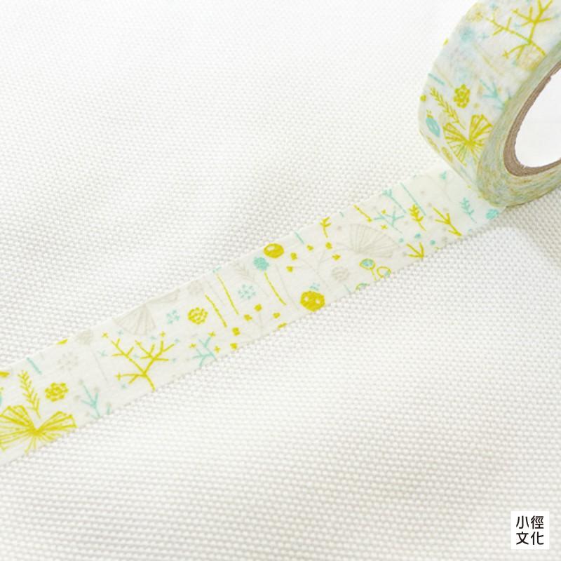 【倉敷意匠】日本進口 點線模樣製作所 和紙膠帶- 繁花盛開 GN ( 26534-06 )