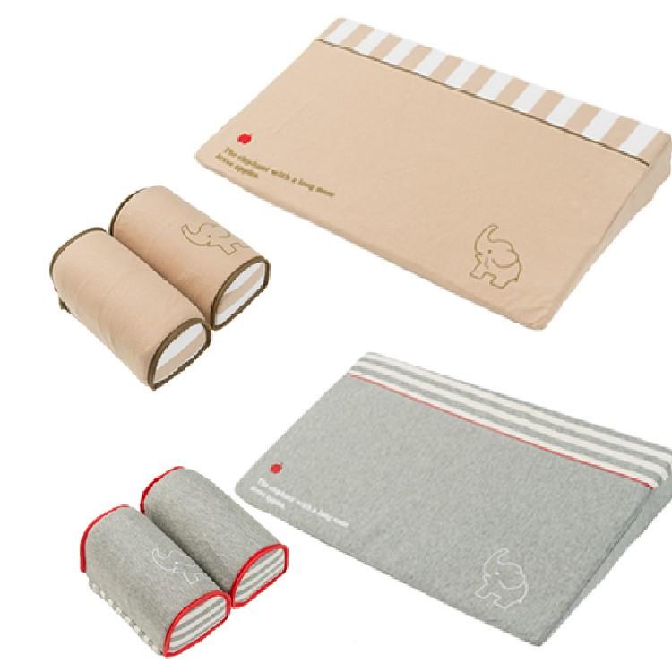 (台灣總代理)SANDEXICA 嬰兒防吐奶枕+防側翻枕 三角枕 二件套組【A50003】