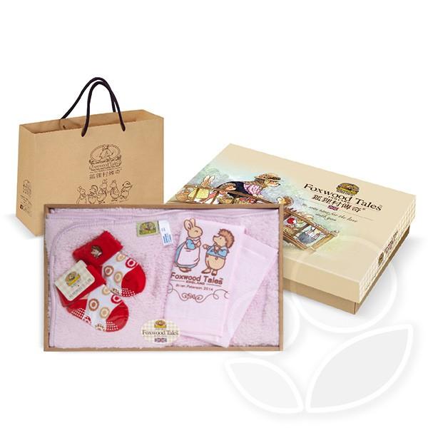 FoxwoodTales 狐狸村傳奇 細柔浴毯禮盒(小)-附提袋【佳兒園婦幼館】