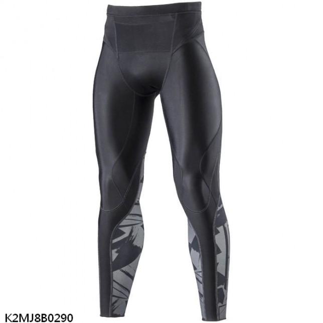MIZUNO 男裝 長褲 緊身 慢跑 BG 5000 II 抗紫外線 吸汗 快乾 黑【運動世界】K2MJ8B0290