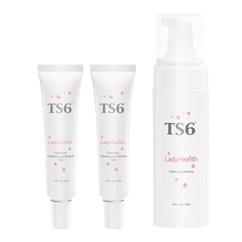 TS6 緊彈水嫩凝膠40gx2+潔淨慕斯180g(品牌經營) 私密保養 私密清潔 緊實私密肌膚