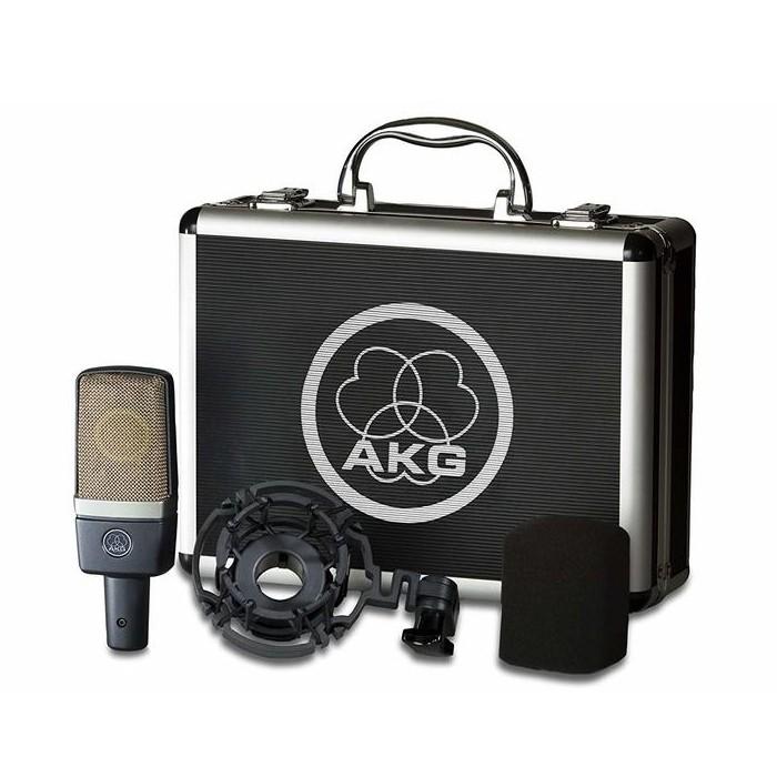 AKG C214 經典專業級電容式麥克風(附金屬收納箱+避震架)-加贈日製5米麥克風線【音響世界】